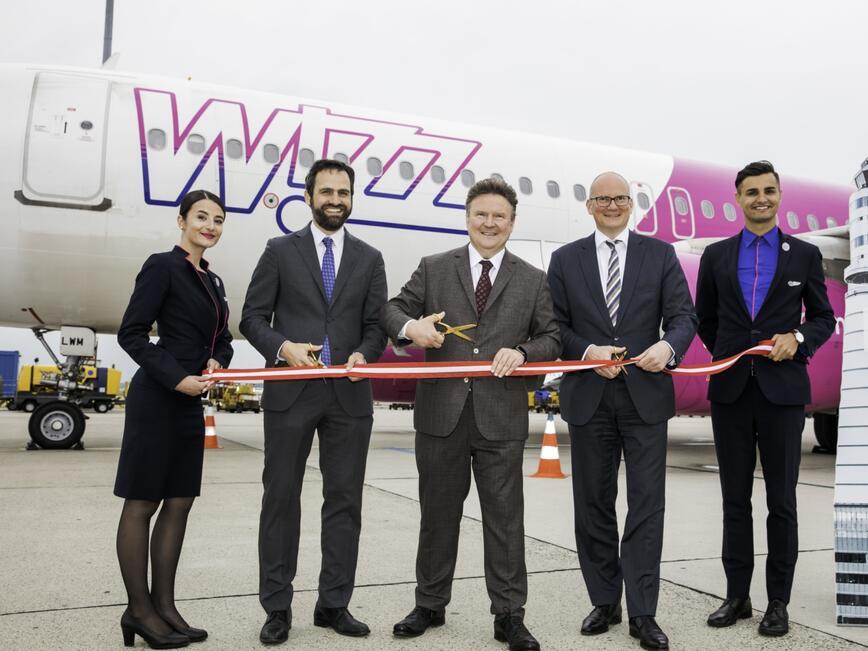 Wizz Air откри официално своята нова база във Виена