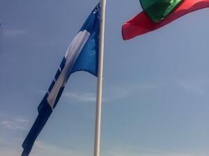 """На северния плаж в """"Слънчев бряг """" се вее знамето на програмата """"Син флаг"""""""