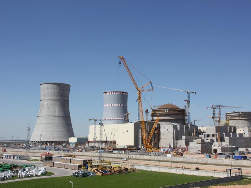 В Първи енергоблок на Беларуската АЕЦ приключи бетонирането на купола на външната защитна обвивка