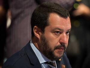 """През изминалата седмица лидерът на крайнодясната партия """"Лига"""" Матео Салвини"""