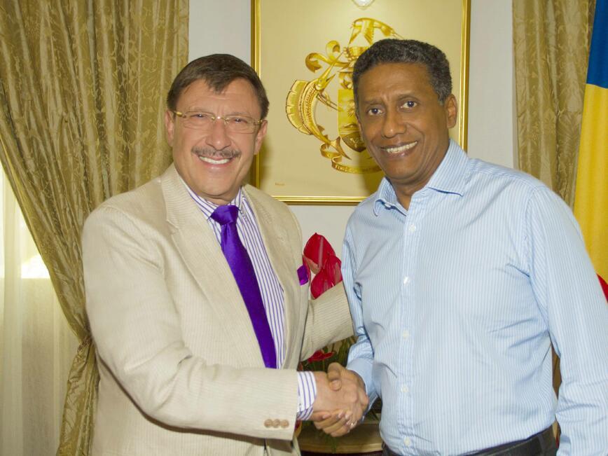Максим Бехар на среща с президента на Република Сейшели