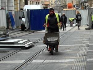 Снимка: Продължават ремонтите в центъра на София