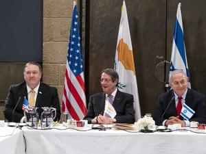 Държавният секретар на САЩ Майк Помпео и лидерите на Гърция,
