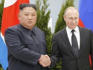Руският президент Владимир Путин и лидерът на Северна Корея Ким
