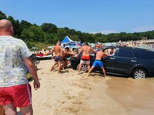Собственикът на затъналия джип на плажа