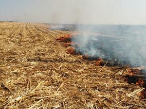 Седемнайсет сигнала за възникнали пожари в обработваеми земеделски площи са