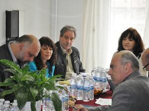<p>Снимка от проведеното заседание в Община Бургас</p>