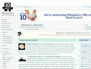Wikipedia става на 10 години