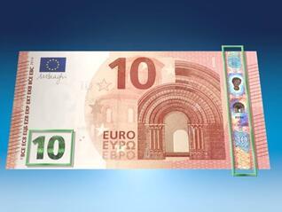 Нова банкнота от 10 евро с надпис на кирилица влиза в обръщение (Видео)