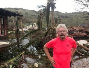 """Ураганът """"Ирма"""" помете острова на Ричард Брансън"""