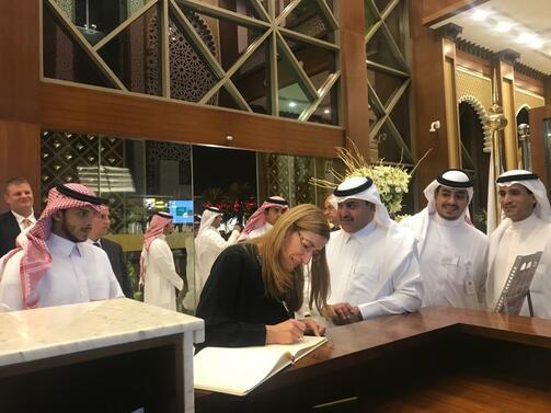 Министърът на туризма Николина Ангелкова се срещна в Рияд с