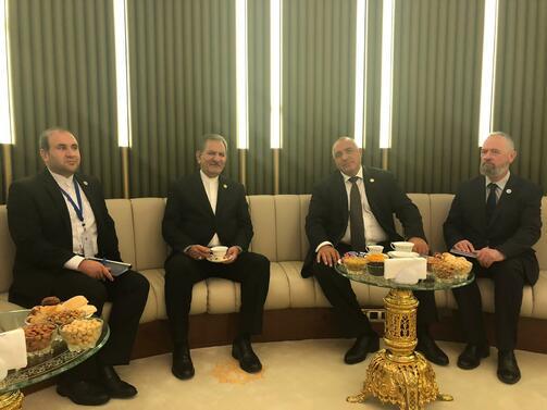 Снимка: Премиерът Борисов разговаря с първия вицепрезидент на Ислямска република Иран Есхаг Джахангири