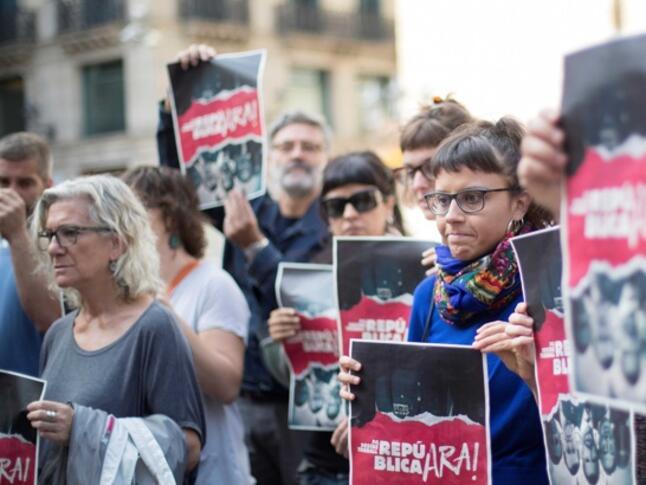 В Каталуня протестират срещу делото на 12 лидери за независимост