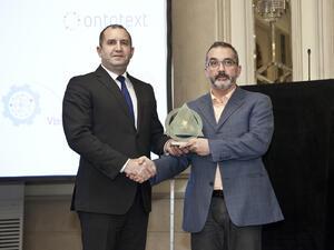 Софтуерната компания Онтотекст получи награда за иновативно предприятие на годината